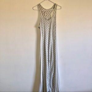 Grey striped Maxi Dress- Lauren Conrad.